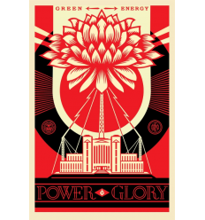 Print GREEN POWER by SHEPARD FAIREY alias OBEY