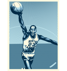 Print MICHAEL JORDAN x FAIREY by SHEPARD FAIREY alias OBEY