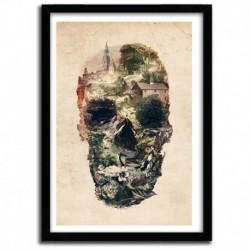 Affiche Skull Town by Ali Gulec
