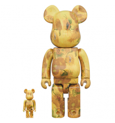 Sculpture 400%+ 100% Bearbrick set - Vincent Van Gogh Sunflowers