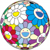 Print FESTIVAL FLOWER DECORATION by TAKASHI MURAKAMI