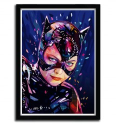 Affiche cat woman par Alessandro Pautasso