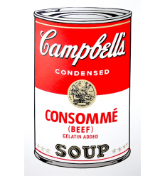 Campbell's Soup Can - Consommé Art Print by Andy Warhol
