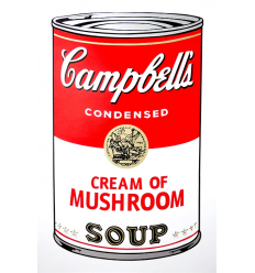 Campbell's Soup Can - Cream of Mushroom Art Print by Andy Warhol