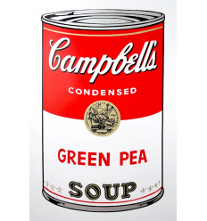 Campbell's Soup Can - Green Pea Art Print by Andy Warhol