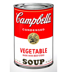 Campbell's Soup Can - Vegetable Art Print by Andy Warhol