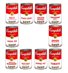 Campbell's Soup Can Portfolio Art Print by Andy Warhol