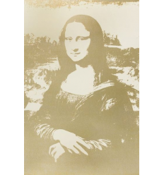 Mona Lisa Gold Print by Andy Warhol