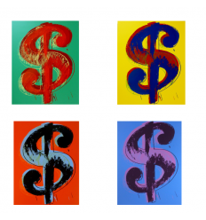 Dollars Signs Portfolio Print by Andy Warhol