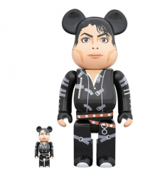 Sculpture bearbrick 400% & 100% Bearbrick set - Michael Jackson (Bad)