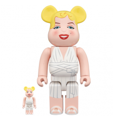 Sculpture bearbrick 400% & 100% Bearbrick set by Marilyn Monroe