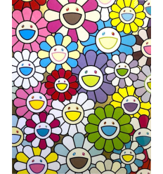 Print SMALL FLOWERS PAINTING by TAKASHI MURAKAMI