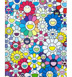 Print A FLOWER FIELD SEEN FROM THE STAIRS TO HEAVEN by TAKASHI MURAKAMI