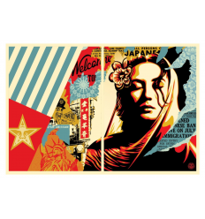 Print PEACE GUARD 2 by SHEPARD FAIREY alias OBEY