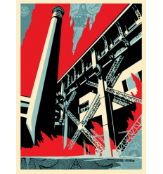Print FOSSIL FACTORY by SHEPARD FAIREY alias OBEY