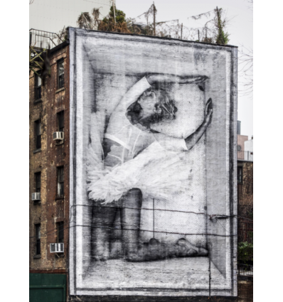Affiche BALLERINA IN CRATE EAST VILLAGE NYC by JR