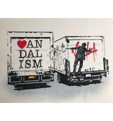 Print Vandalism Truck White by NICK WALKER