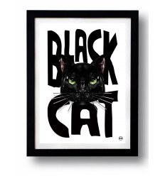 Affiche BLACK CAT 1 par Rubiant