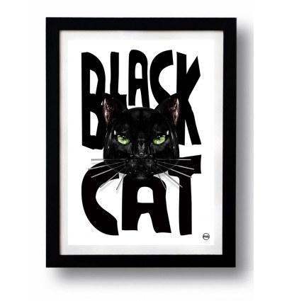 Affiche BLACK CAT 1 par Rubiant