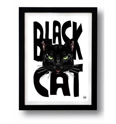 Affiche BLACK CAT 2 par Rubiant