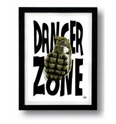 Affiche DANGER ZONE par Rubiant