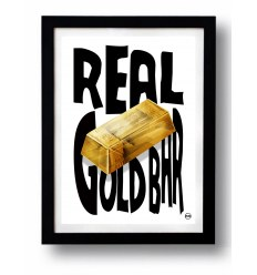 Affiche REAL GOLD par Rubiant