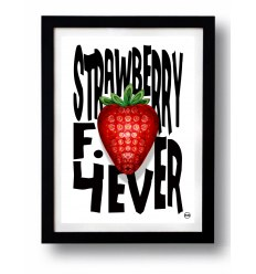 Affiche STRAWBERRY FILED 4 par Rubiant