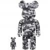 Sculpture Bearbrick 400% & 100% Bearbrick set - Kosuke Kawamura