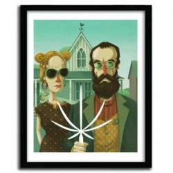 Affiche AMERICAN GOTHIC by STEVE SIMPSON