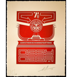 Print CHINESE BANNER by SHEPARD FAIREY alias OBEY
