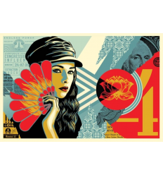 Print FAN THE FLAMES by SHEPARD FAIREY alias OBEY