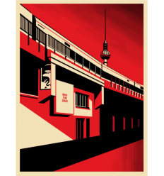Print BERLIN TOWER by SHEPARD FAIREY alias OBEY