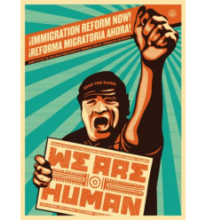 Print WE ARE HUMAN by SHEPARD FAIREY alias OBEY