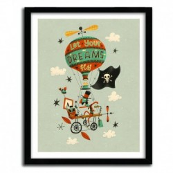 Affiche MAKE YOUR DREAMS FLY by STEVE SIMPSON