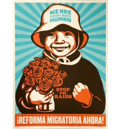 Print IMMIGRATION REFORM GIRL by SHEPARD FAIREY alias OBEY
