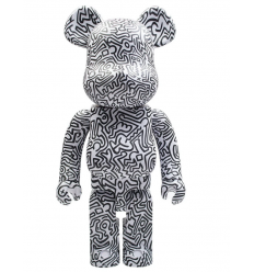 Sculpture bearbrick 1000% Haring V4
