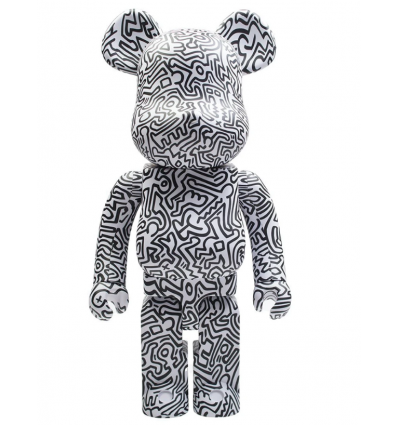 Sculpture bearbrick 1000% Haring V4
