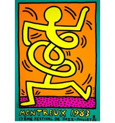 Print MONTREUX JAZZ FESTIVAL 1983 ORANGE par ketih Haring
