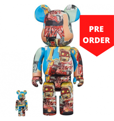 1000% Bearbrick - Jean-Michel Basquiat V6 Robot King