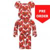 Sculpture 1000% Bearbrick - Keith Haring v6 Heart Face [PRE-ORDER]