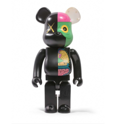 Sculpture bearbrick 1000% Kaws Dissected Companion Black