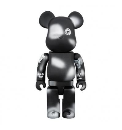 Sculpture bearbrick 400% Futura Unkle Black