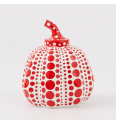 Sculpture MINI PUMPKIN Red by YAYOI KUSAMA