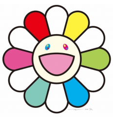 Print SMALL FLOWERS PAINTING PINK, PURPLE AND MANY OTHER COLORS by TAKASHI MURAKAMI