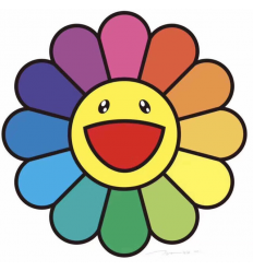 Print SMILE ON, RAINBOW FLOWER! by TAKASHI MURAKAMI