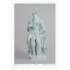 Print Blue calcite eroded Moses by DANIEL ARSHAM