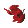 Sculpture Love Rat Red by BANKSY
