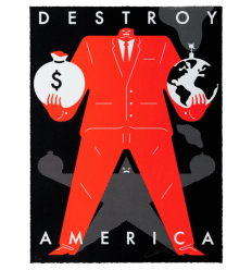 Print Destroy America Black by CLEON PETERSON