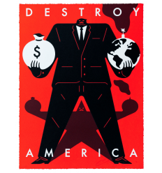 Print Destroy America Red by CLEON PETERSON