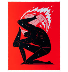 Print World On Fire Red by CLEON PETERSON